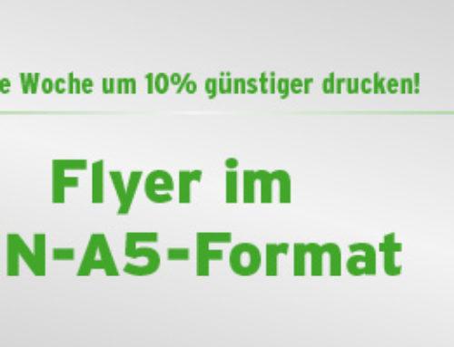 Angebot der Woche – DIN-A5 Flyer um 10% günstiger