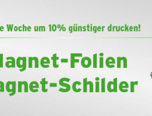 Angebot der Woche – Magnet-Schilder um 10% günstiger