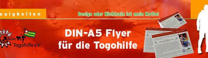 Neue Aktion – Neue Flyer – DIN-A5 Flyer für die Togohilfe