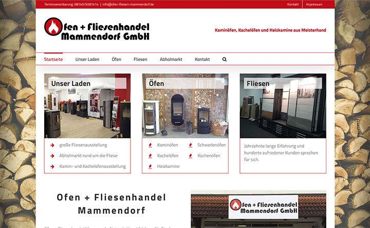 Neue Webseite für Ofen + Fliesenhandel Mammendorf GmbH