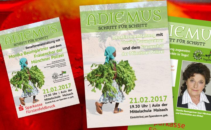 Flyer und Plakate für die Veranstaltung ADIEMUS