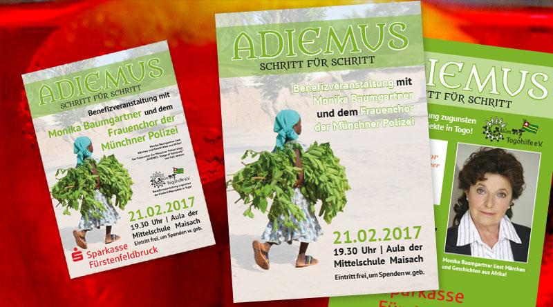 Flyer und Plakate für die Veranstaltung Adiemus - Schritt für Schritt