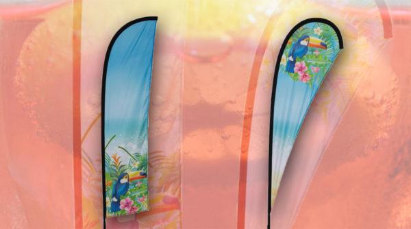 Neues Produkt - Beachflags bestellen, gestalten und drucken lassen