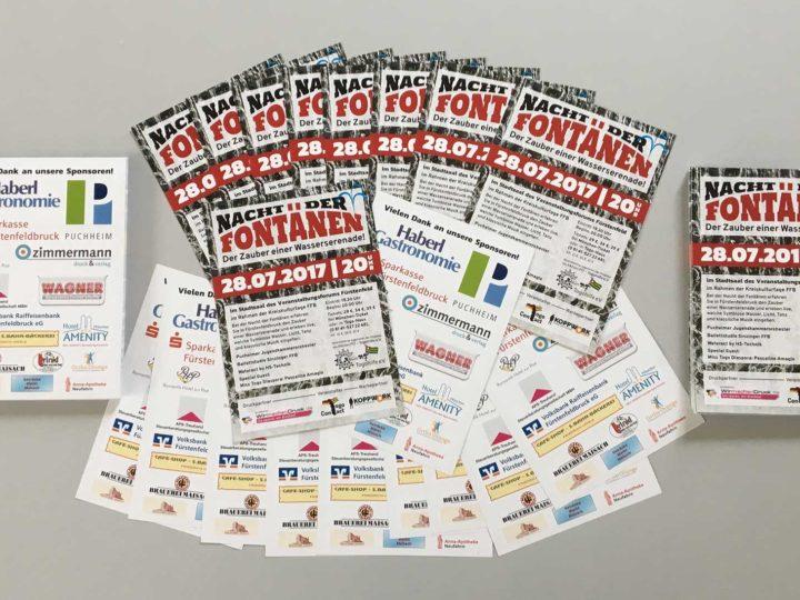 Flyer für die Nacht der Fontänen