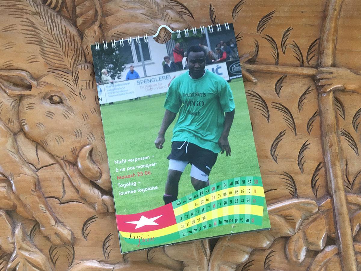 Das Juni-Blatt des Togo-Kalenders von 2006