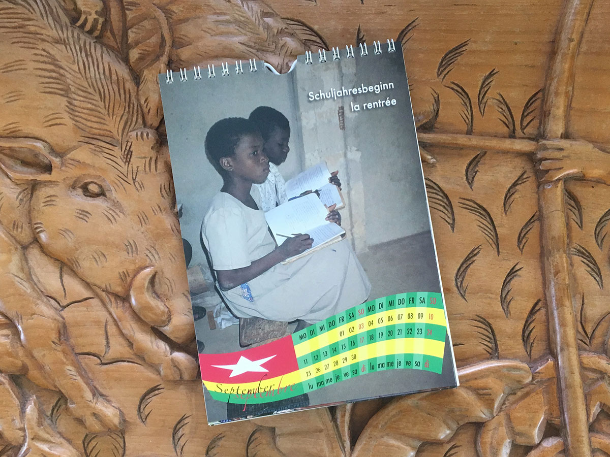 Das September-Blatt des Togo-Kalenders von 2006