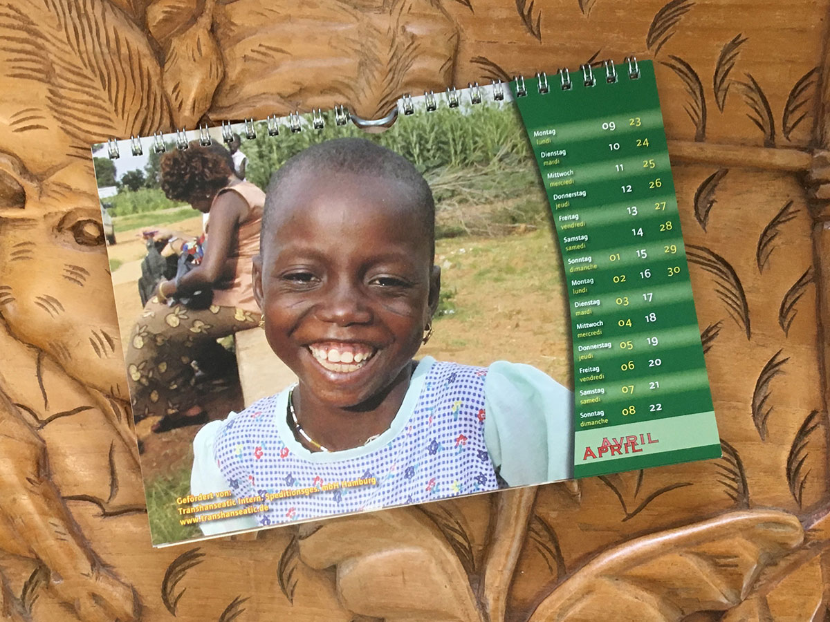 Das April-Blatt des Togo-Kalenders von 2007