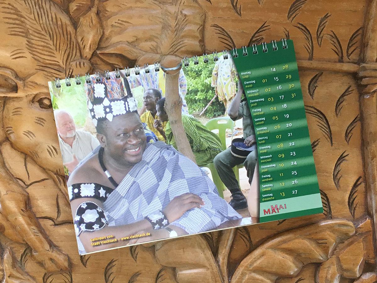 Das Mai-Blatt des Togo-Kalenders von 2007