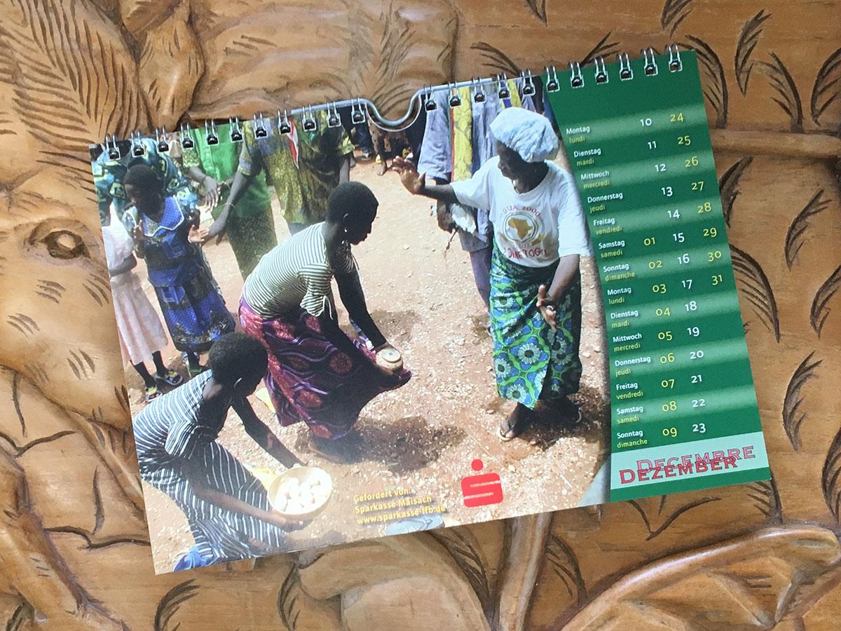 Das Dezember-Blatt des Togo-Kalenders von 2007