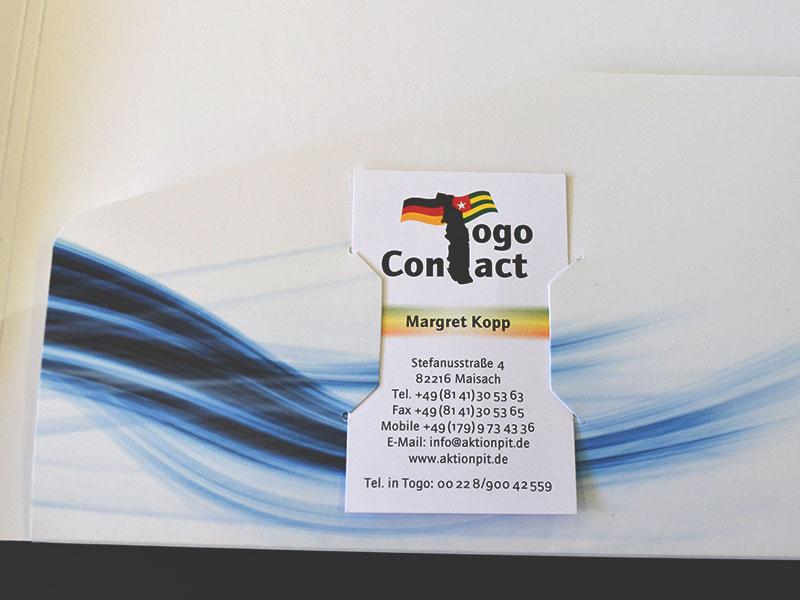 Mappe A4 - Comfort - Visitenkarte im Hochformat