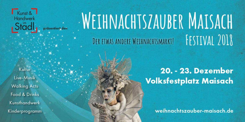 """Gestaltung für das Festival """"Weihnachtszauber Maisach 2018"""