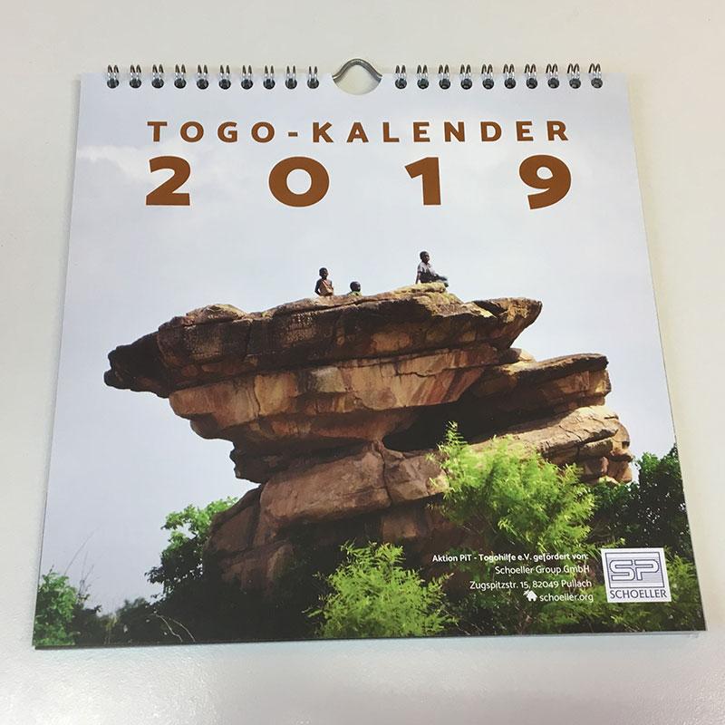 Das Titelblatt des Togo-Kalenders von 2019