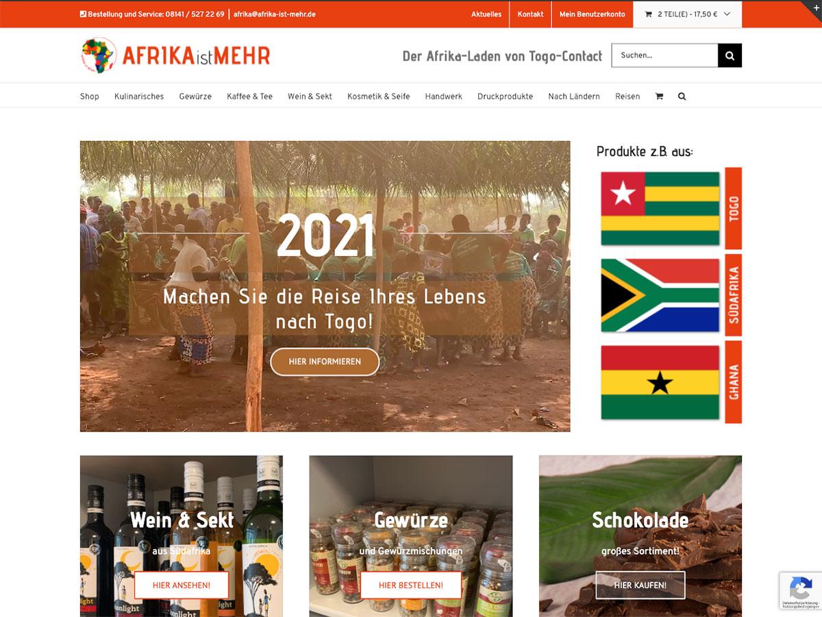 Die Startseite von Afrika ist mehr