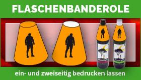 Flaschenbanderolen, Flaschenhals-Banderolen gestalten und drucken lassen