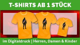 T-Shirts für Herren, Damen und Kinder im Digitaldruck ab 1 Stück gestalten und drucken lassen