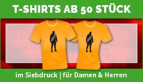 T-Shirts für Herren und Damen im Siebdruck ab 50 Stück gestalten und drucken lassen