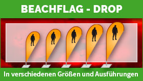Beachflags in Drop-Form gestalten und drucken lassen