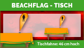 Beachflag für den Tisch - Tischfahne