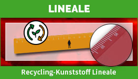 Recycling-Kunststoff Lineale gestalten und drucken lassen