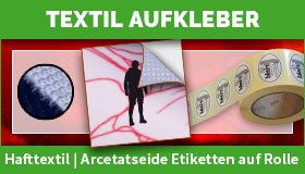 Textilstruktur Aufkleber gestalten und drucken lassen